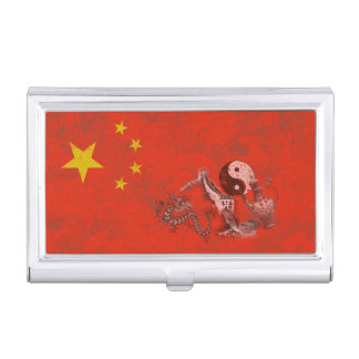 Flag and Symbols of China ID158 Business Card Holder