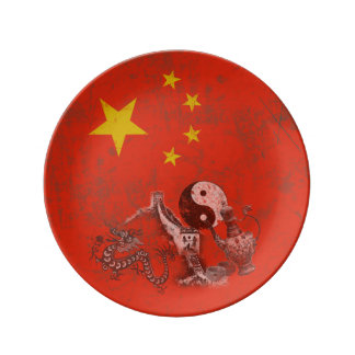 Flag and Symbols of China ID158 Plate