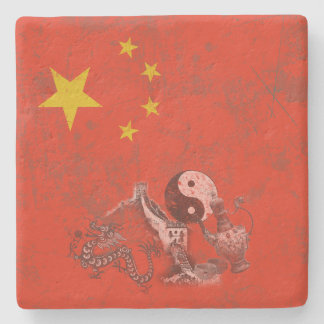 Flag and Symbols of China ID158 Stone Coaster