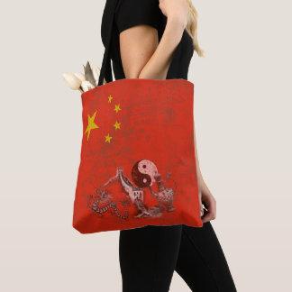 Flag and Symbols of China ID158 Tote Bag