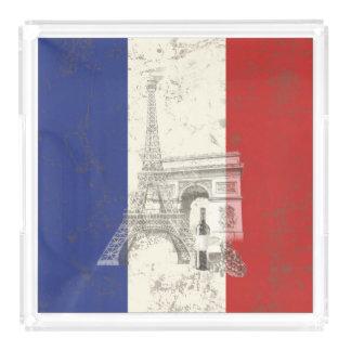 Flag and Symbols of France ID156 Acrylic Tray