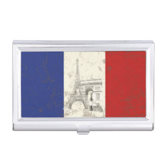 Flag and Symbols of France ID156 Business Card Holder