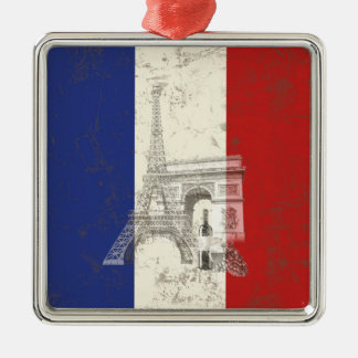Flag and Symbols of France ID156 Christmas Ornament
