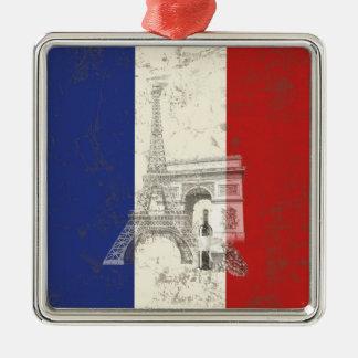 Flag and Symbols of France ID156 Christmas Ornament