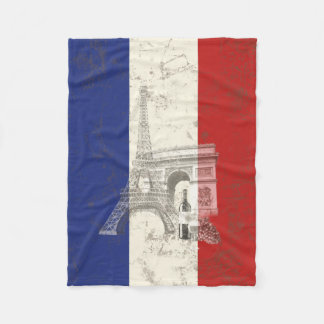 Flag and Symbols of France ID156 Fleece Blanket