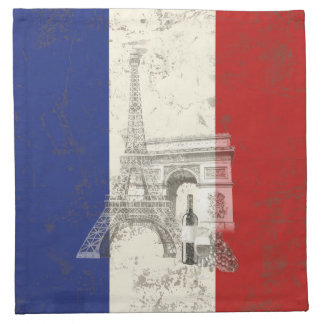 Flag and Symbols of France ID156 Napkin