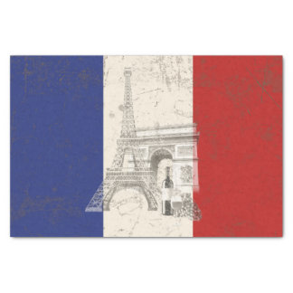 Flag and Symbols of France ID156 Tissue Paper