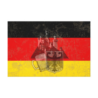 Flag and Symbols of Germany ID152 Canvas Print