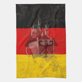 Flag and Symbols of Germany ID152 Tea Towel