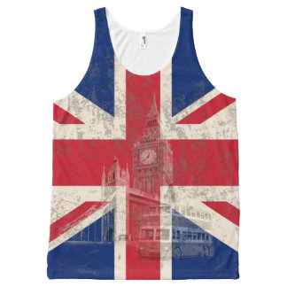 Flag and Symbols of Great Britain ID154 All-Over Print Tank Top