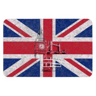 Flag and Symbols of Great Britain ID154 Rectangular Photo Magnet
