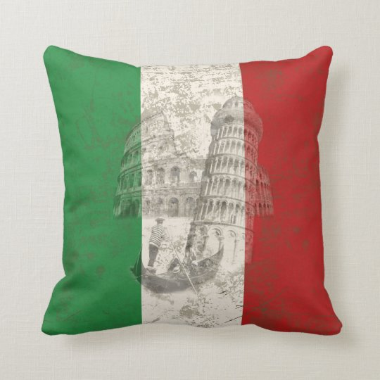 Flag and Symbols of Italy ID157 Cushion