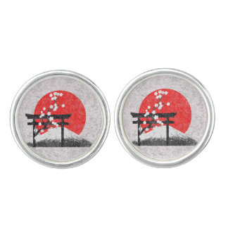 Flag and Symbols of Japan Cuff Links