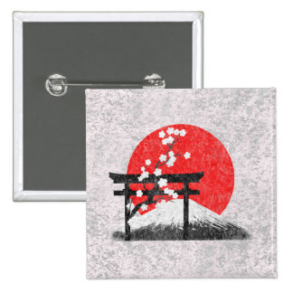 Flag and Symbols of Japan ID153 15 Cm Square Badge