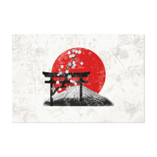 Flag and Symbols of Japan ID153 Canvas Print