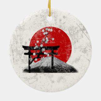 Flag and Symbols of Japan ID153 Christmas Ornament