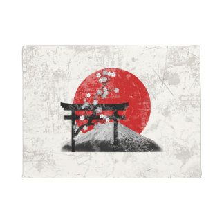 Flag and Symbols of Japan ID153 Doormat