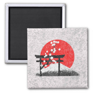 Flag and Symbols of Japan ID153 Square Magnet