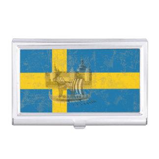 Flag and Symbols of Sweden ID159 Business Card Holder
