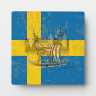 Flag and Symbols of Sweden ID159 Plaque