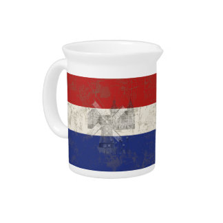 Flag and Symbols of the Netherlands ID151 Pitcher