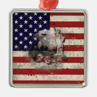 Flag and Symbols of United States ID155 Christmas Ornament