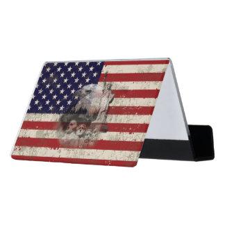 Flag and Symbols of United States ID155 Desk Business Card Holder