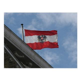 flag austria fly postcard