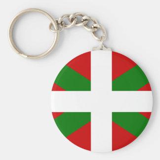 Flag Basque Country euskadi Basic Round Button Key Ring