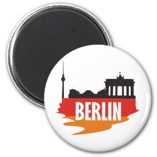 Flag Berlin 6 Cm Round Magnet