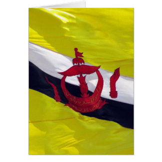 flag brunei greeting card