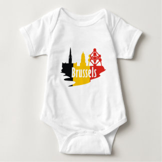 Flag Brussels Baby Bodysuit