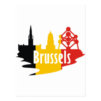 Flag Brussels Postcard