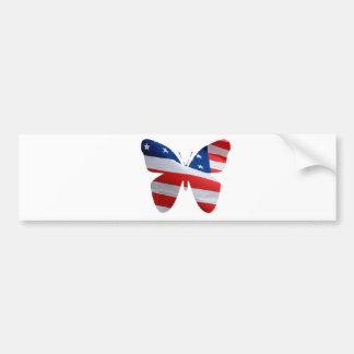 flag butterfly bumper sticker