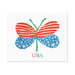 flag butterfly canvas gallery wrapped canvas