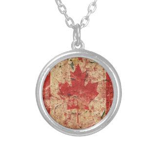 Flag Canada Round Pendant Necklace