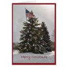 Flag Christmas Tree Card