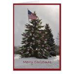Flag Christmas Tree Greeting Cards