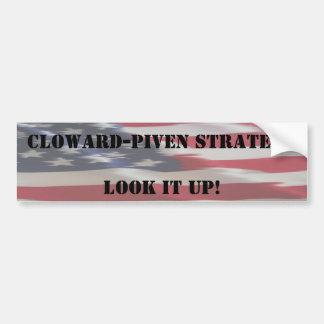 flag, Cloward-Piven StrategyLook it up, Cloward... Bumper Sticker