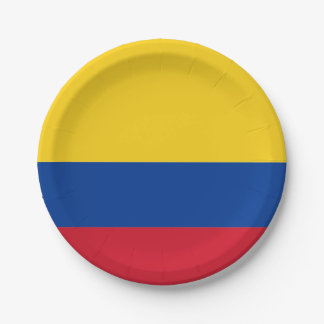 Flag: Colombia Paper Plate