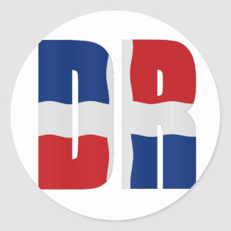 Flag Dominican Republic Classic Round Sticker