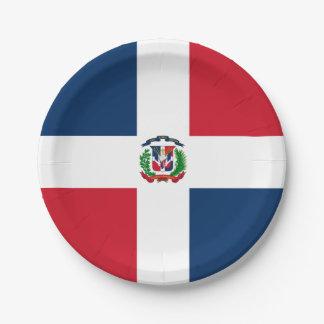 Flag: Dominican Republic Paper Plate