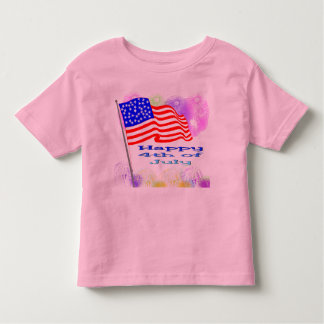 Flag Fireworks 4th of July T Shirts