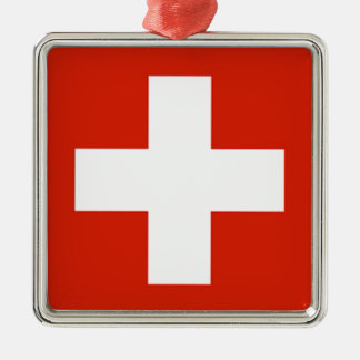 Flag - Flagge - Fahne - Switzerland - Schweiz Christmas Ornament