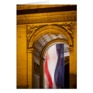 Flag Flies Inside The Arc De Triomphe, Paris Card