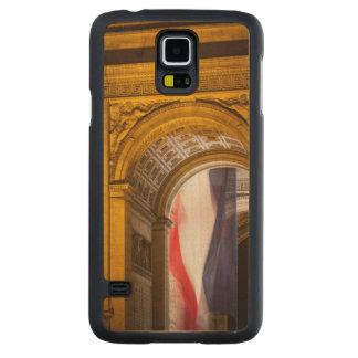 Flag Flies Inside The Arc De Triomphe, Paris Carved Maple Galaxy S5 Case