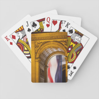 Flag Flies Inside The Arc De Triomphe, Paris Playing Cards