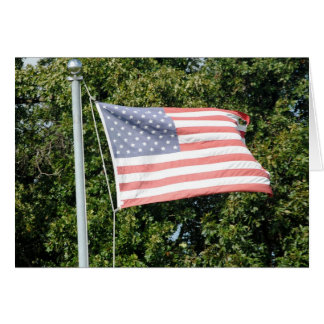 Flag Flying at the Farm Note Card