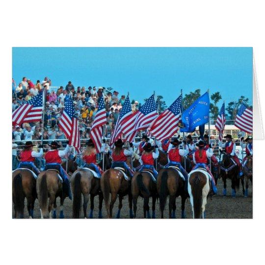 Flag Girls Card