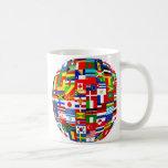Flag Globe Basic White Mug